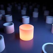 Unique luminous object — Stock Photo