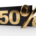 50 percent — Stock Photo #32619013