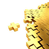 Golden crosses — Stock Photo
