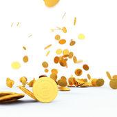 Падающие монеты — Стоковое фото