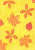 秋天的叶子的 grunge 风格 — 图库照片