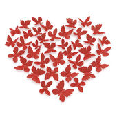 Heart shape of butterflies — Stock Photo