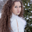Portrait of the Snow Maiden — Stock Photo