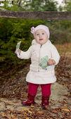 Baby with money — Stock Photo
