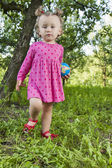 Little girl on the nature — Stock Photo