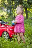 Küçük kız niteliğine — Stok fotoğraf