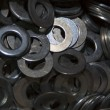 Stock Photo: Metal washers
