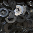 Metal washers — Stock Photo