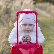 Girl with suitcase — Stockfoto #33626801