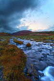 River tundra evening of a cloud — Foto Stock