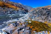 Mountain rock river bog — Stock Photo