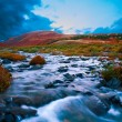Mountain river tundra — Stock Photo