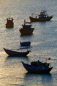 Fishing boats, sea — Stock Photo