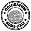 Stock Vector: Colosseum stamp