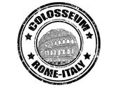 Colosseum stamp — Stock Vector