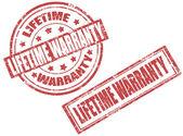 Selos de garantia do tempo de vida — Vetor de Stock