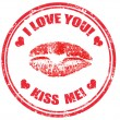 Royalty-Free Stock Vector Image: Kiss me stamp