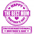 Mother's day stamp — Stock Vector
