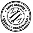 Stock Vector: Auto service stamp