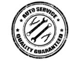 Auto service stamp — Stock Vector