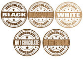 Set of chocolate stamps — Stock Vector