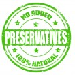 Stock Vector: NO ADDED PRESERVATIVES stamp