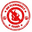 NO flammable grunge stamp — Stok Vektör