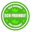 Eco friendly label — Stock Vector