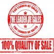 Royalty-Free Stock Vector Image: The leader of sales-stamps