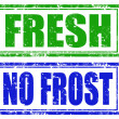 Stock Vector: Fresh and no frost stamps