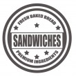 Stock Vector: Sandwiches stamp