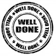 Stock Vector: Well done -stamp