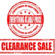 Clearance sale — Stock Vector