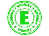 Vitamin E stamp — Stock Vector