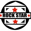 Rock star label — Stock Vector