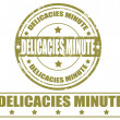 Vector de stock : Delicacies minute-stamps