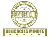 Delicacies minute-stamps — Stock Vector