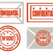 Top secret -stamps — Stock Vector #24694685