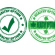Set of healty option stamps — Stock Vector