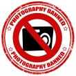 Photography banned-stamp — Stock Vector