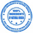 Ingredients of natural origin — Stock Vector