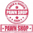 Pawn shop-stamp — Stock Vector