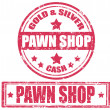 Pawn shop-stamp — Stockvectorbeeld
