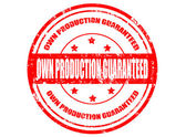 Own production guaranteed-stamp — Stock Vector