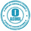 Not contain alcohol-stamp — Stock Vector #25261703