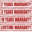 Warranty-set of stamps — Imagen vectorial