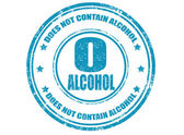 Not contain alcohol-stamp — Stock Vector