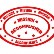 Stock Vector: Mission Accomplished-stamp