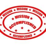 Миссия выполнена штамп — Cтоковый вектор