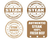 Set of steak stamp — Stock Vector
